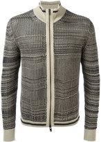 Maison Margiela zip knitted cardigan