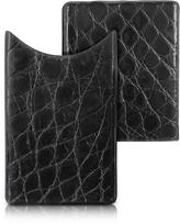 CNC Costume National Peroni Crocodile-Embossed Leather Card Case