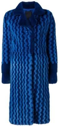 Liska Bexin two-tone fur coat