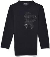 Rochas Round Neck Sweater in Black