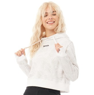 Bench Womens Capella Cropped Hoodie White