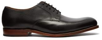 Grenson Liam Leather Derby Shoes - Mens - Black