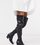 Chio Exclusive over the knee western boots in black leather