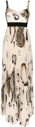 Silvia Tcherassi Zenu circle print maxi dress
