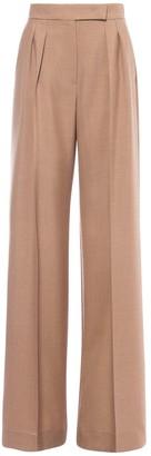 Max Mara Galea Straight Mohair & Silk Twill Pants