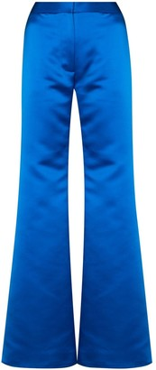 Halpern Satin Flared Trousers