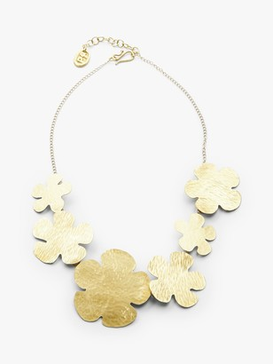 People Tree Daisy Brass Necklace, Brass