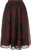 Co Floral Jacquard Midi Skirt