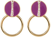 Trina Turk Linear Pave Doorknocker Earrings