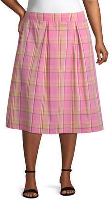 A.N.A Womens A-Line Skirt - Plus