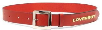 Charles Jeffrey Loverboy Loverboy Logo-embellished Leather Belt - Red
