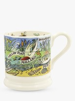 Emma Bridgewater Fresh Water Wildlife Half Pint Mug, 280ml, Multi