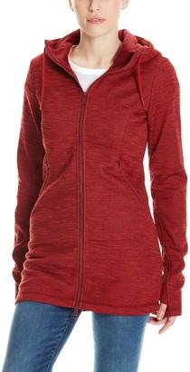 Bench Women's Bonded Long Velvet Jacket Coat