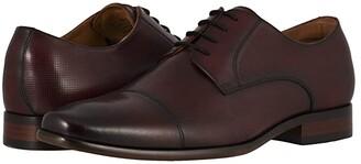 Florsheim Postino Cap Toe Oxford (Cognac Smooth/Perf) Men's Lace Up Cap Toe Shoes