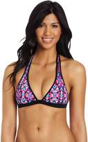TYR Women's Conchella Binded Perfect Halter Bra With Removable Power Pads