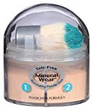 Physicians Formula Mineral Wear Talc Free Mineral Loose Powder Duo, Creamy Light/Creamy Natural, 0.17 Ounce