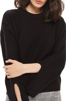 Topshop Women's Wide Sleeve Sweater
