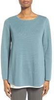 Eileen Fisher Petite Women's Silk & Organic Cotton Pullover