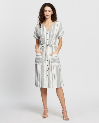 Dorothy Perkins Stripe Linen Shirt-Dress