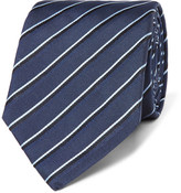 HUGO BOSS 7.5cm Striped Silk-jacquard Tie - Light blue