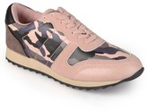 Women's Journee Collection Round Toe Lace Up Fashion Sneakers -