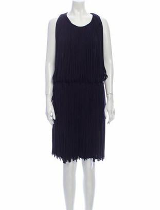 Lanvin Scoop Neck Knee-Length Dress Blue