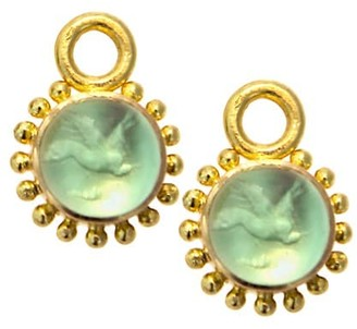Elizabeth Locke Venetian Glass Intaglio Nile 'Cabochon Tiny Griffin' Earring Pendants
