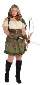 Amscan Robin Hoodie Adult Women's Costume - Plus Size