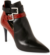 Fendi Leather Pointed Toe Ankle Booties