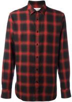 Saint Laurent classic checked shirt - men - Cotton/Tencel - 38