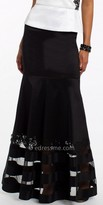 Camille La Vie Laser Cut Illusion Taffeta Skirt