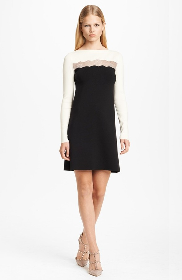Valentino Lace Inset Tunic Dress