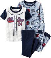 Carter's 4-pc. Sport Pajama Set - Baby Boys newborn-24m