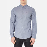 BOSS GREEN Men's CBuster Long Sleeve Shirt - Open Blue