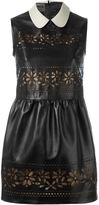 RED Valentino laser cut floral dress - women - Cotton/Lamb Skin/Polyamide/Viscose - 42