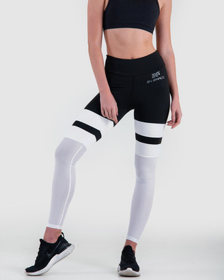 EN GARDE Apparel - Women's Black Sports Tights - EG Edition Noir Blanche Net Leggings - Size One Size, S at The Iconic