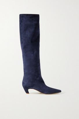KHAITE Suede Knee Boots - Navy