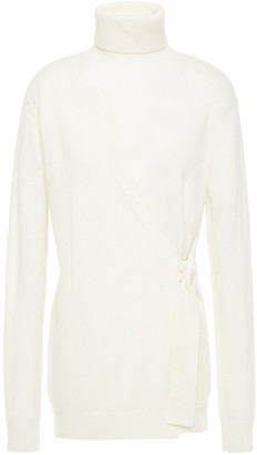 Diane von Furstenberg Pomona Wrap-effect Wool And Cashmere-blend Turtleneck Sweater