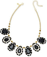 INC International Concepts Gold-Tone Teardrop Stone Statement Necklace, Created for Macy's