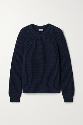 By Malene Birger Mea Ribbed Cotton-blend Sweater - Navy