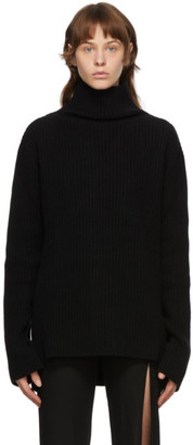Ann Demeulemeester Black Virgin Wool Turtleneck