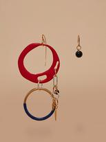 Diane von Furstenberg Asymmetric Two Ring Charm Earrings