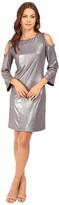 rsvp Liquid Gold Cold Shoulder Dress