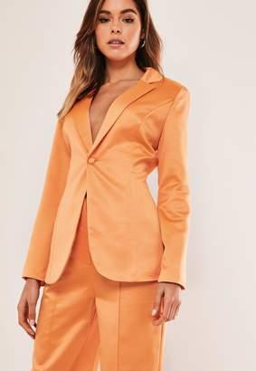 Missguided Petite Orange Co Ord Skinny Classic Blazer