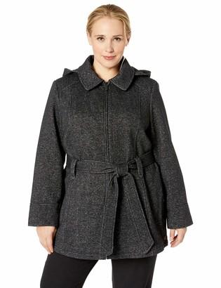 Jones New York Women's Plus Pluz Size Zip Front Sweatshirt Fleeece Jacket