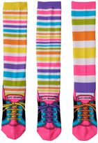 LittleMissMatched Girls 4-9 Little Miss Matched 3-pk. Sneaker Knee-High Socks