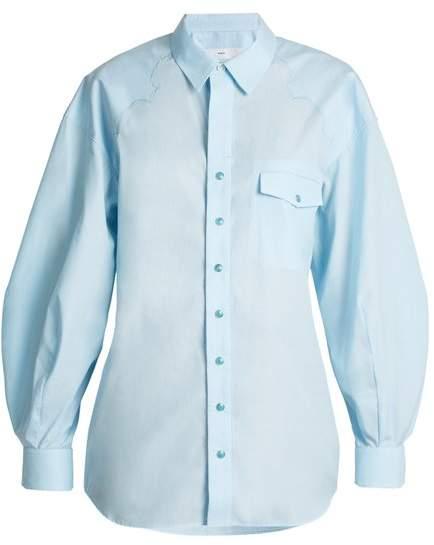 Toga Balloon-sleeved cotton shirt