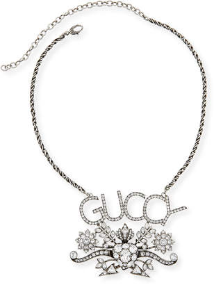 Gucci Men's GUCCY Pendant Necklace w/ Aged Finish