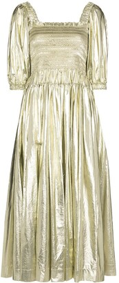 Molly Goddard Camilla shirred dress