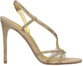 Le Silla Sandals In Gold Leather